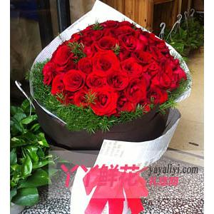 鲜花速递99枝红玫瑰