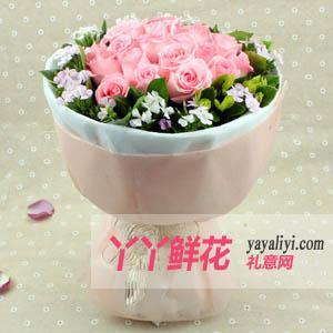 鲜花19枝戴安娜粉玫瑰(品尝甜蜜)