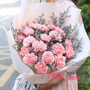 19枝粉色康乃馨