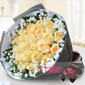 真爱 - 鲜花19枝香槟玫瑰