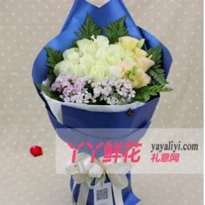 鲜花店20枝白玫瑰