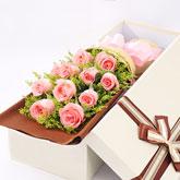 西安鲜花11枝粉玫瑰