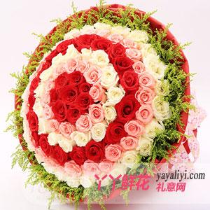 相濡以沫 - 鲜花店99支混色玫瑰