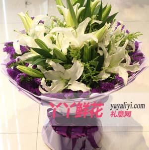 纯洁的祝福 - 鲜花网15支百合