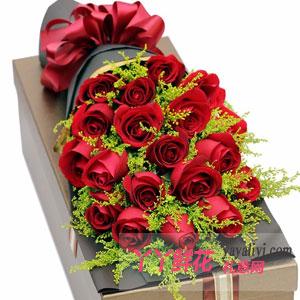 爱恋 - 19支红玫瑰咖色礼盒