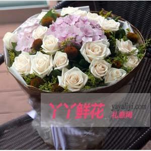 鲜花33支白玫瑰(最爱是你)