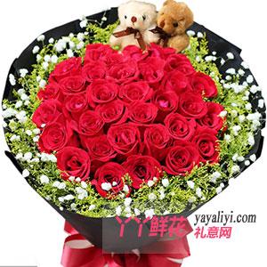 爱的记忆 - 33朵红玫瑰鲜花预定