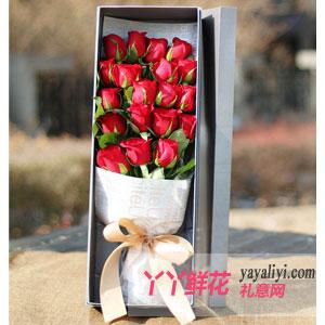 圣诞节送花19只A级红玫瑰礼盒