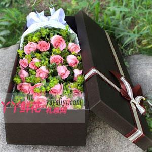 19朵粉玫瑰鲜花礼盒