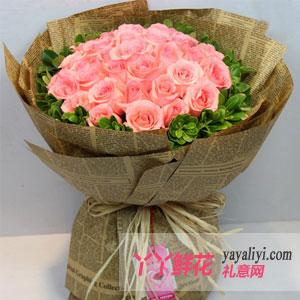 圣诞节33朵粉玫瑰(浪漫之梦)