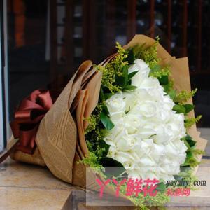 鲜花33朵白玫瑰