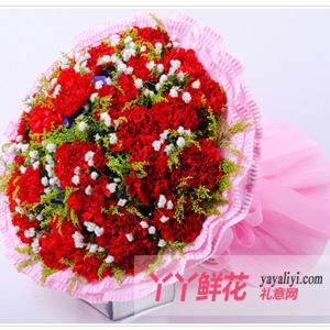 鲜花19枝红色康乃馨(祝福)
