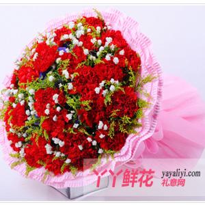 祝福 - 鲜花19枝红色康乃馨