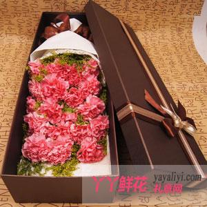 温馨 - 19朵粉色康乃馨礼盒