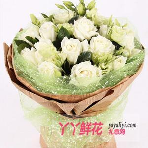 11支白玫瑰