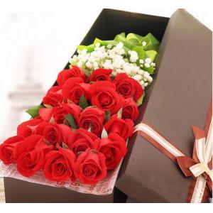 19朵红玫瑰花鲜花礼盒