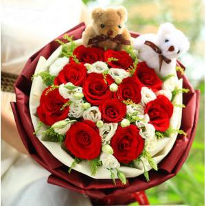 11朵红玫瑰花束西安生日送花