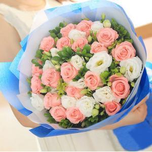 19朵戴安娜白色桔梗花