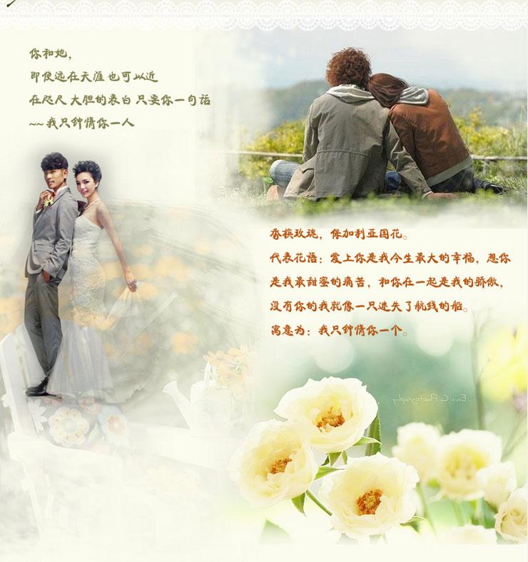 我只钟情你一人鲜花故事