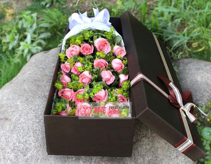 19朵粉玫瑰鲜花礼盒(温柔)