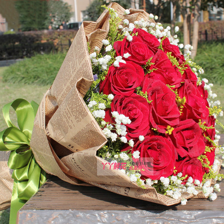 鲜花快递19朵红玫瑰(爱很简单)细节图