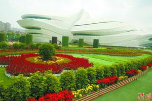 长沙梅溪湖国际文化艺术中心鲜花朵朵迎盛会