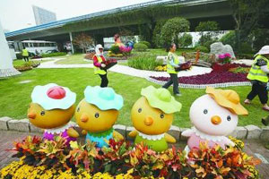 鲜花扮靓南京街头